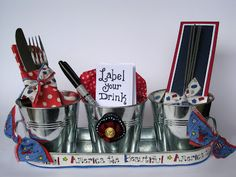 Cute for the July 4th BBQ. Easy, too. Scrappy Chick Designs: I Love the USA Blog Hop~