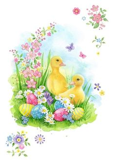 48 Ideas Basket Ideas Easter Rabbit For 2019 Easter Art, Easter Crafts, Easter Bunny, Easter Eggs, Ostern Wallpaper, Easter Illustration, Illustration Children, Rabbit Illustration, Easter Paintings