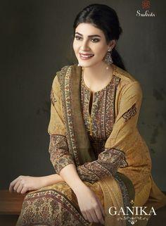 42732e3ae3 Sahiba Sudriti Ganika Fancy Digital Printed Crepe Dress Material Collection  at Wholesale Rate Pakistani Salwar Kameez