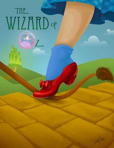 Wizard of Oz Stage Production Poster by justin-mctwisp.deviantart.com on @deviantART