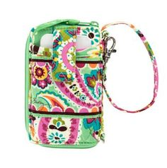 Carry It All Wristlet | Vera Bradley also want for Christmas but in the indigo pop color