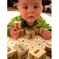 Genius Baby   Wooden Foreign Language by TreehouseIllustrator, $23.00