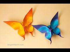 Vamos enseñar como hacer origami mariposa de papel, en este video aprenderán como es de fácil, hacer mariposa de origami, vean y sigan los pasos, vean el vid...