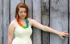 Felt Necklace. Chunky Chain Link Felted Necklace. Handmade Felt Jewelry by HandiCraftKate on Etsy $60