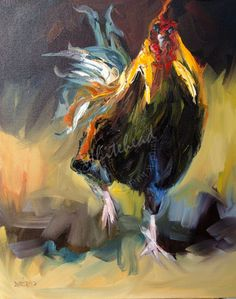 Daily Painters Abstract Gallery: ROOSTER TALE ARTOUTWEST DAILY PAINTING D WHITEHEAD FINE ART