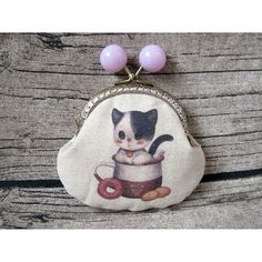 Handmade Fabric Coin Purse with Cutie Style Metal Frame from Gingerbee The Handmade #Handmade#Fabric#Coin#Purse#cute#Cutie#Style#Metal#Frame#plastic#big#balls#purple#baby#cat#canvas#coffee#mug#donuts#biscuits#milk#brown#white#ramie#cotton#pouch#bags#gift#birthday
