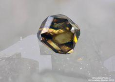 Anatase - Gorb, Lercheltini area, Binn Valley, Wallis, Switzerland 0.63 mm Anatase crystal. Collection & Photo Matteo Chinellato