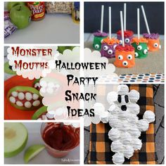 Halloween Party Snack Ideas I canot wait to start making treat bags, desserts and all sorts of recipes for Halloween.