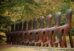 Sculpture by Polish artist Magdalena Abakanowicz - photographer not listed    ...these are a bit odd, but fascinating...