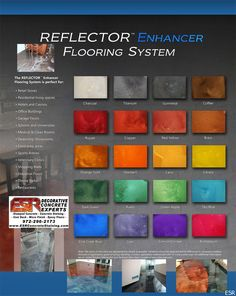 stained concrete floors colors - Google Search