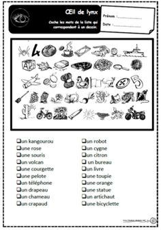Discover recipes, home ideas, style inspiration and other ideas to try. French Teacher, Teaching French, Teaching Tools, Teacher Resources, Perception, Hidden Picture Puzzles, French Alphabet, High School French, Hidden Pictures