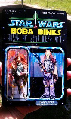 Star Wars Power of the Force Power of the force rouge orange Carte Boba Fett Bounty Hunter figure