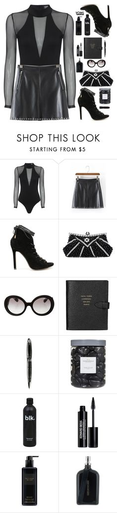 """Yoins ~dark thoughts"" by gabygirafe ❤ liked on Polyvore featuring Prada, Smythson, S.T. Dupont, Threshold, Edward Bess, Victoria's Secret, Boris Bidjan Saberi, MAC Cosmetics, yoins and yoinscollection"