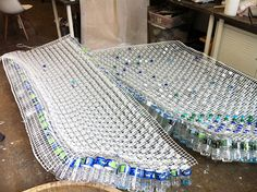 Image result for recycled bottle structures