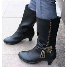 Womens Ladies Designer Fashion Leather Dress Boots Booties for Women