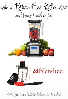 Enter for a chance to win this #Blendtec Blender and the Bonus Twister jar at gourmandeinthekitchen.com!