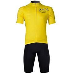 Comfortable Breathable Yellow Short Sleeve Bicycle Bike Cycling Riding Suit Sports Clothes Set (Size Optional)
