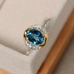 Hey, I found this really awesome Etsy listing at https://www.etsy.com/listing/400642827/blue-topaz-ring-oval-cut-gemstone-yellow
