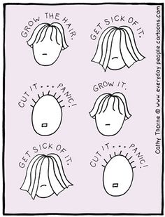 """This might happen, but you can get through the """"grow back"""" by visiting with and sticking with a good hair stylist who will see you through looking good."""