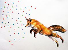 Fox Painting by chantelyoung on Etsy, $80.00