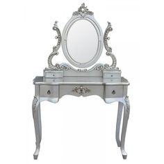 French Silver Dressing Table