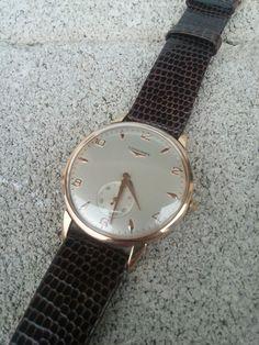 Reloj pulsera Longines Vintage 50  oro rosa 18k moviento mecánico estado genial