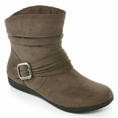 """Arizona brown boot New, never worn with box.   synthetic upper approx. ?"""" heel 6?"""" shaft height strap and buckle embellishment slouch treatment rubber sole Arizona Jean Company Shoes Ankle Boots & Booties"""
