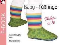 Diese Füßlinge eignen sich zum einen als Sockenersatz für Babys und Krabbelkinder. Sie halten durch das Bündchen sehr gut am Fuß. Des weiteren können sie an Hosen mit Bein-Bündchen angenäht werden. So ensteht z.B. eine fußwarme Kinder-Schlafanzug