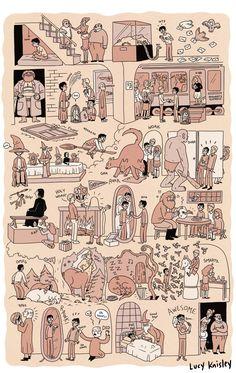 Harry Potter e a Pedra Filosofal em uma página.