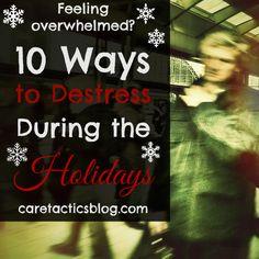 10 ways to destress during holidays   Caretactics