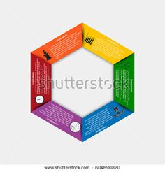 Infographics Template  Options With Hexagon Can Be Used For