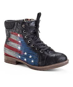 Look at this Black USA Boot on #zulily today!