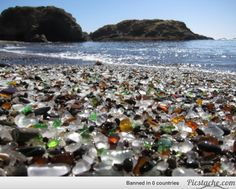 This glass beach