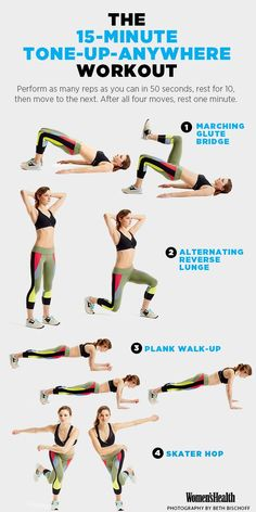 Eliminate Excuses and Boost Your Metabolism With This Workout Women's Health Magazine Full Body Workouts, Ab Workouts, At Home Workouts, Workout Exercises, Beginner Bodyweight Workout, Metabolic Workouts, Hamstring Workout, Workout Plans, Workout Challenge