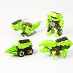 4-in-1 Educational Solar Robot Kit Build Your Own Science Toy DIY,Green >>> Review more details @