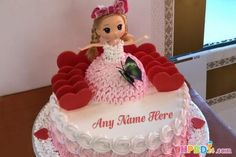 Pink Heart Birthday Cake Of Name Generator Happy Birthday Cakes For Women, Latest Birthday Cake, Happy Birthday Doll, Heart Birthday Cake, Online Birthday Cake, Doll Birthday Cake, Birthday Cake With Photo, Happy Birthday Celebration, Birthday Cake Pictures