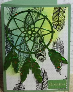 Handmade  Greeting Card Dreamcatcher  any occasion Birthday Gift  Holiday