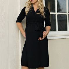 Julianna - Black The nursing and maternity version of the little black dress. Who says you can't rock the Lil Black Dress while rocking the baby bump too! Maternity Nursing Dress, Maternity Dresses, Maternity Fashion, Trendy Clothes For Women, Trendy Tops, Affordable Maternity Clothes, Pregnancy Wardrobe, Maternity Wardrobe, Lil Black Dress