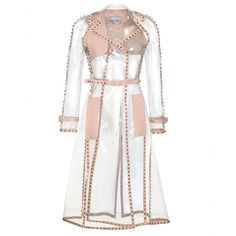 Valentino - TRANSPARENT ROCKSTUD TRENCH COAT - The perfect way to keep dry and show your dress off!