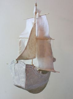 when ships and dioramas collide (the paper mache ship pattern is in print! Paper Mache Crafts For Kids, Paper Crafts, Paper Paper, Wood Patterns, Print Patterns, Pattern Print, Ann Wood, Paper Mache Sculpture, Antony Gormley