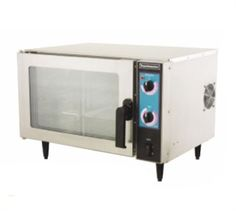 "TOASTMASTER Omni Convection Oven, Countertop, Electric, (3) 13"" x 18"" w/3-3/4"" OC or (4) 13"" x 18"" w/2"" OC pan capacity, electromechanical controls, thermostat w/indicator light, slam cam handle, cool to touch door, dual pane tempered glass door, s/s construction, 4"" legs, 120v/60/1ph, 16 amps, ETL, NSF @$1,067"