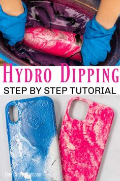 Have you been wondering how to hydro dip? We have a very simple but fun tutorial so you can learn all about hydro dipping. Tie Dye Crafts, Crafts To Make, Fun Crafts, Diy Tumblers, Custom Tumblers, Hydrodipping Diy, Diy Hydro Dipping, Hydro Painting, Paint Dipping
