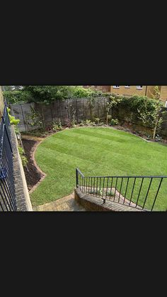 Shaped green lawn