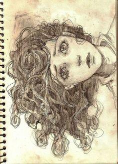 Fantasting Drawing Hairstyles For Characters Ideas. Amazing Drawing Hairstyles For Characters Ideas. Drawing Sketches, Art Drawings, Pencil Sketching, Pencil Art, Drawn Art, Arte Sketchbook, Love Art, Diy Art, Painting & Drawing