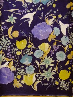 Linen & cotton gauze fabric japanese nani IRO fuccra rakuen indigo blue. USD28/m. USD7/ quarter metre (25cm). $7.00, via Etsy.