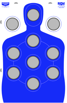New Birchwood Casey Target That Holds Clays Cardboard Silhouette Target Holds 10 Clay Pigeons Bow Target, Paper Targets, Rifle Targets, Shooting Targets, Shooting Range, Hold On, Clay, 45 Acp, Silhouette