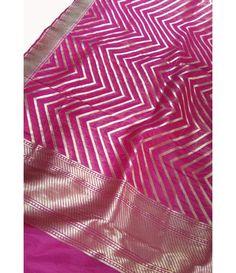 Pink Handloom Banarasi Pure Katan Silk Dupatta