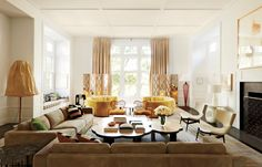 <p>Paris-based decorator India Mahdavi oversaw the daring transformation of a Connecticut residence for longtime clients. The house, which is composed of a historic barn and a number of modern additions, as seen from the entrance drive. Gorgeous! In the living room, Mahdavi grouped two pairs of sofas, twin screens, and cocktail tables—all of her own […]</p>