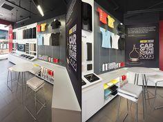 Tesla showroom by MBH Architects Los Angeles California