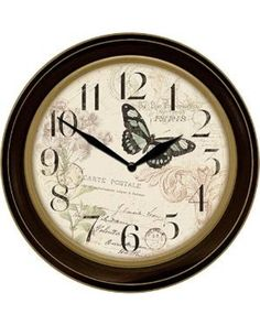 Patton Patton 12in. Antique Butterfly Wall Clock , Brown from Boscovs.com   BHG.com Shop